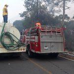 Cruz Roja Mexicana ayuda a brigadistas que combaten incendios en la Sierra