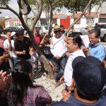 Vecinos y voluntariado rehabilitan el parque Puerta de Belén