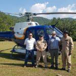 Helicópteros del Gobierno De Aguascalientes apoyaron combate a incendio
