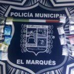 Policías de El Marqués detienen a sujeto, traía coca y metanfetamina