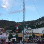 Realizan Voladores de Papantla rituales de prueba sin incidentes en La Cañada