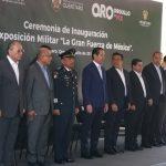 """Inauguran la Exposición Militar """"La Gran Fuerza de México"""""""