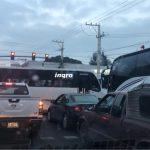 #AlertaVial Se manifiestan transportistas