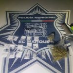 Traían drogas y son detenidos por la policía municipal de El Marqués