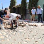 Recorrido de supervisión de obra en Ezequiel Montes