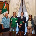 Recibe el Gobernador a Brandon Plaza medallista en Lima 2019