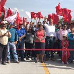 Inauguró Antorcha camino en la comunidad deBoyecito