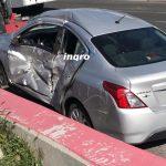 Así fue el Choque bus y auto particular. 12 lesionados en el eje Avenida de la Luz