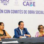Se reúne Gobernador con comités de obra social