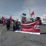 Antorchistasen Corregidora acuden a evento del alcalde, exigen solución a demandas