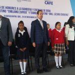 Gobernador entrega obras educativas en Tequisquiapan