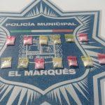 Policías de El Marqués evitan distribución de drogas en El Colorado