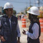Luis Nava supervisa trabajos pluviales en la calzada de las Lágrimas