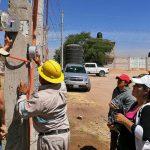 Regularizan servicio de energía eléctrica en 100 viviendas de La Griega