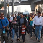 Luis Nava acompaña a trabajadores de Parques y Jardines en tradicional peregrinación