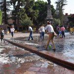 Ciudadanos participan en Jornada de Limpieza en el Centro Histórico