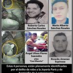 Se buscan a 4 involucrados por homicidios de la joyería París