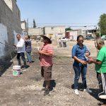 Fracción QI arranca con limpieza de paredes junto con ciudadanos de Laderas de San Pedro Mártir