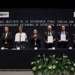 UAQ firma convenio con el  Instituto de la Defensoría Penal Pública
