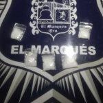 Policías de El Marqués detienen a dos con sustancias prohibidas, en El Colorado