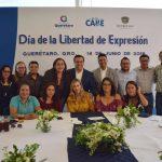 Celebra Luis Nava con medios Día de la Libertad de Expresión