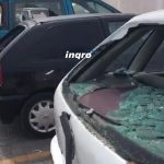 ...y varios autos resultaron heridos