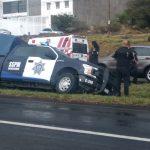 Descarta Corregidora daños personales en incidente vial de elementos de policía