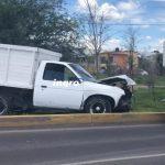 Falla por mecánica provoca salida de camino en prolongación Bernardo Quintana