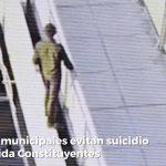 Policías municipales evitan suicidio en avenida Constituyentes