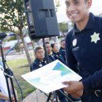 Ciudadanas y ciudadanos reconocen a elementos policiales en la colonia La Aurora
