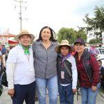 Presidente Municipal visita a Peregrinos de Ezequiel Montes