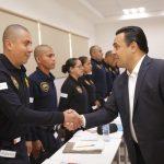 Luis Nava visitó la Guardia Municipal por su XXI Aniversario