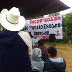 Antorcha gestionó electrificaciónpara la comunidad de PuertoEscanelilla