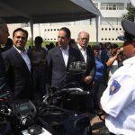 Entrega Luis Nava vehículos y equipo por 40 mdp para la Policía Municipal