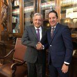 Revisa el Gobernador propuestas de obras con el Presidente