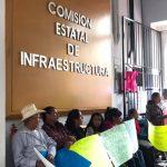 Antorchistasexigena la Comisión Estatal de Infraestructura arranque de caminos