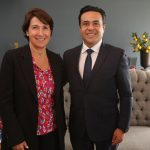 Luis Nava se reúne con embajadora de Francia en México
