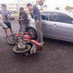 Derrapa motociclista
