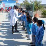 Visita Connie Herrera centro escolar otomí
