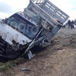 Choque entre camionetas deja una persona muerta