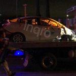 Destroza vehículo al chocar contra caseta en la Celaya cuota