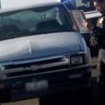 Es detenido conductor de camioneta robada