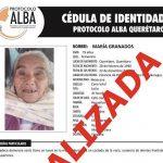 Se localizó sana y salva a María Granados
