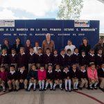 Encabeza Enrique Vega ceremonia de Honores a la Bandera en primaria Octavio S. Mondragón