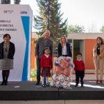 Paulina Aguado y Enrique Vega entregaron obra educativa en jardín de niños de Santa Cruz