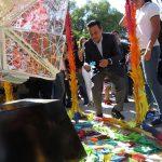 """Inaugura Luis Nava la exposición """"Grullas de Paz"""" en la Alameda Hidalgo"""