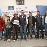 Entrega Luis Nava 500 calentadores solares en Santa Rosa Jáuregui