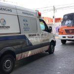 Incidente involucra a transporte público y viandante