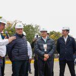 Visitan Gobernador y Presidente  termoeléctrica en El Sauz
