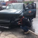Impactan vehículos en Avenida Popocatépetl